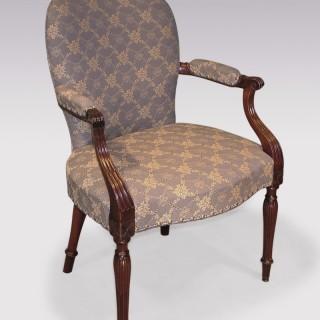 A Hepplewhite period mahogany Armchair.