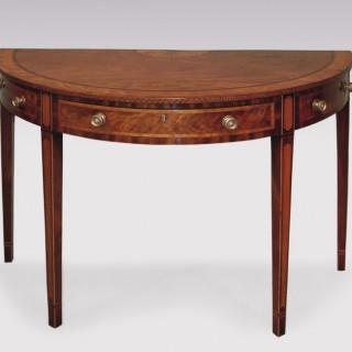 A late 18th Century Sheraton period mahogany Side Table.