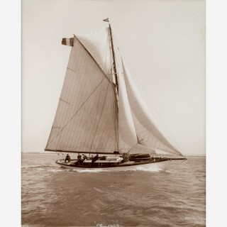 Early silver gelatin photographic print by Beken of Cowes - Yacht Pelleas II