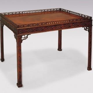 Fine mid 18th Century Chippendale period mahogany Silver Table.