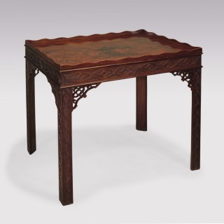 Antique Chippendale period mahogany Silver Table.