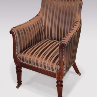 An early 19th Century Regency period mahogany Tub Armchair.