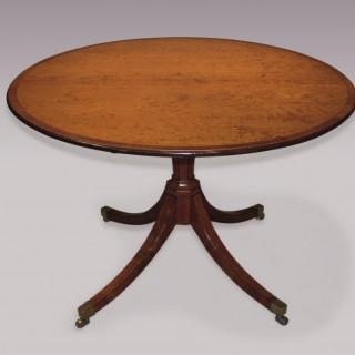 Late 18th Century sheraton period Satinwood Breakfast Table.