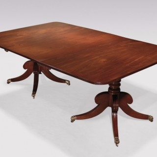 An early 19th Century Regency period mahogany 2-Pedestal Dining Table.
