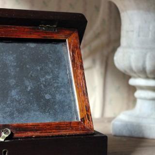 A Delightful 19thC English Oak Campaign Type Gentleman's Travelling Shaving Box c.1830-40