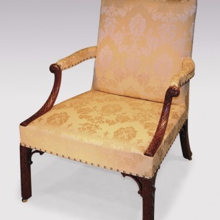 A fine quality mid 18th Century mahogany Gainsborough Armchair.