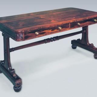 Regency rosewood Writing Table.