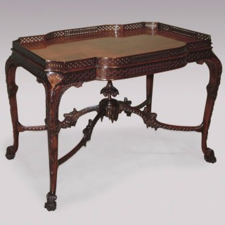 A fine 19th Century Chippendale style well carved mahogany Silver Table.