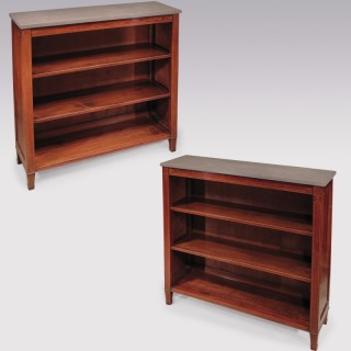 A pair of George III period mahogany Open Bookshelves.