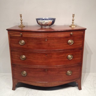 Geo III mahogany bow fronted chest of drawers.