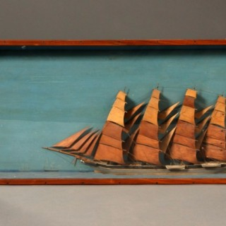 A 19th century Welsh folk-art ship diorama