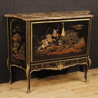 20th Century French Lacquered Chinoiserie Wet Bar