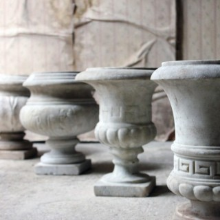 A Fine Group Of Four Early 20thC Neoclassical Revival White Marble Urns c.1900-25