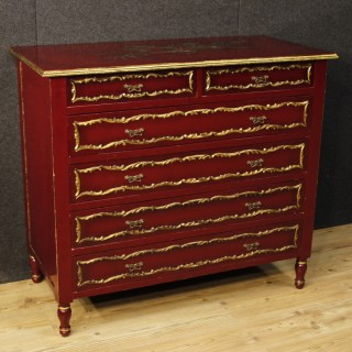 20th Century Spanish Gild And Lacquered Dresser