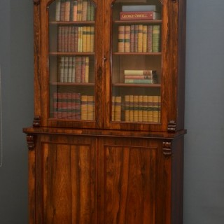 Victorian Rosewood Bookcase