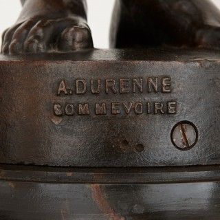 Pair of Cast Iron Figural Torcheres by A. Durenne