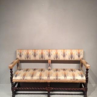 17th century oak hall seat.