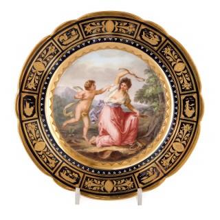 Fine Royal Vienna Porcelain 18-Piece Dessert Service