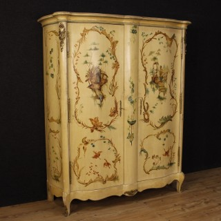 20th Century Lacquered And Painted Wardrobe