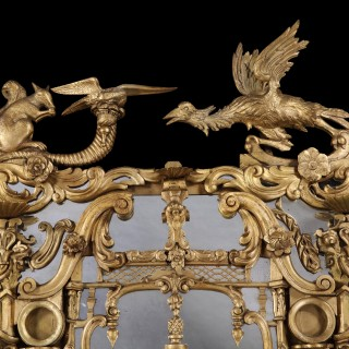 Irish Giltwood Looking Glass inthe Rococo Manner