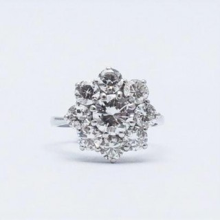 Diamond Cluster 18 Carat White Gold Ring