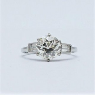 Diamond Solitaire 2 Carat Platinum Engagement Ring