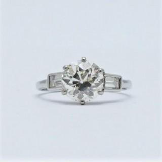 Diamond Solitaire 2 Carat Platinum Engagement Ring