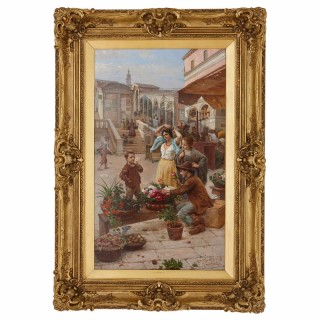 'The Young Merchant', 19th Century European oil painting of Venice by Paoletti