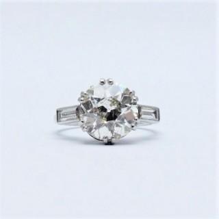 Platinum 4 Carat Diamond Solitaire Ring
