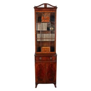 Hepplewhite Style Mahogany Bookcase