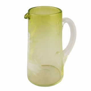 Large 'Mary Gregory' Glass Jug