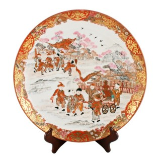 Japanese Kutani Porcelain Plaque