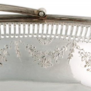 18th Century Georgian Silver Basket
