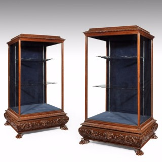A Pair of Large 19th Century Display Trophy Cabinets