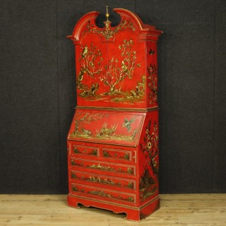 20th Century French Trumeau In Lacquered And Gilt Chinoiserie Wood