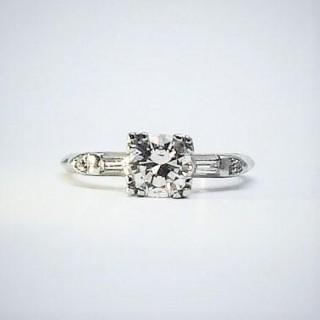 Platinum Art Deco Diamond Solitaire Ring