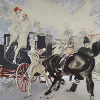 Alfred Reginald Thomson, RA - An Incident at the Races