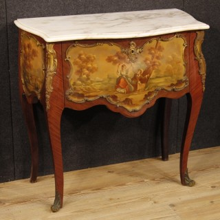 20th Century French Commode In Rosewood With Marble Top
