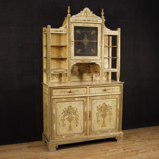 20th Century Italian Lacquered, Painted And Gilt Cupboard