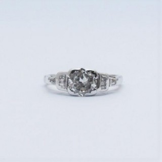 1930's Art Deco 1.10 Carat Diamond Solitaire Engagement Ring