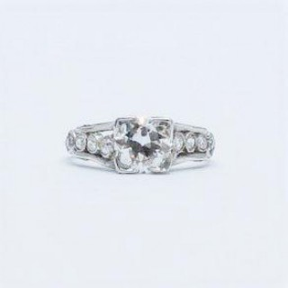 Diamond Solitaire Engagement Ring .90 Carat