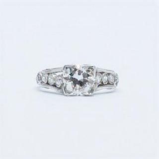 Diamond Solitaire Engagement Ring .90 Carat