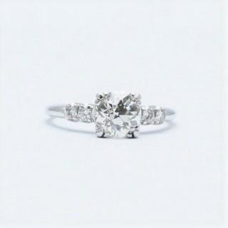 1.15 Carat Diamond Solitaire Platinum Engagement Ring