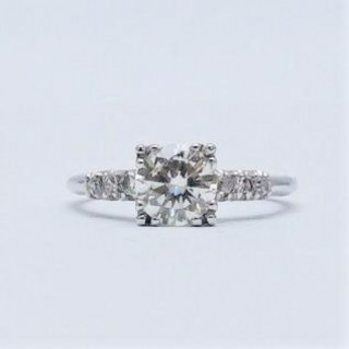 1.10 Carat Diamond Solitaire Platinum Engagement Ring