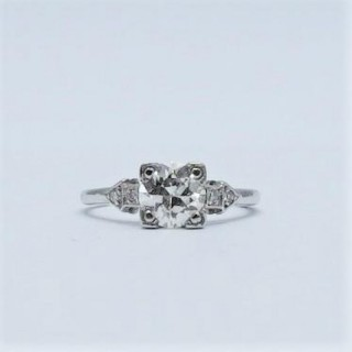 1.10 Carat Diamond Solitaire White Gold Engagement Ring