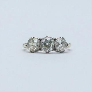 Three Stone Fancy Yellow Diamond Ring
