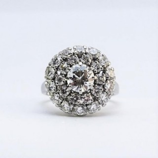 Platinum Diamond Cluster Ring.