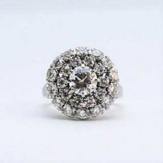 Platinum Diamond Cluster Ring.