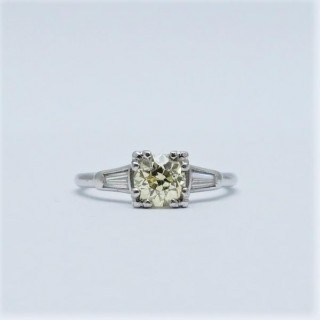 Fancy Yellow 1.20 Carat Diamond Solitaire Ring