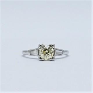 Fancy Yellow 1.20 Carat Diamond Solitaire Ring